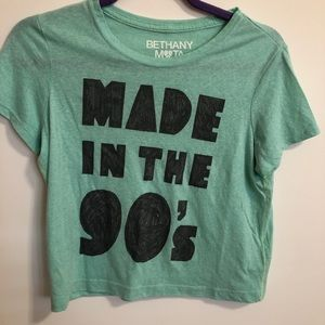 Made in the 90's crop top